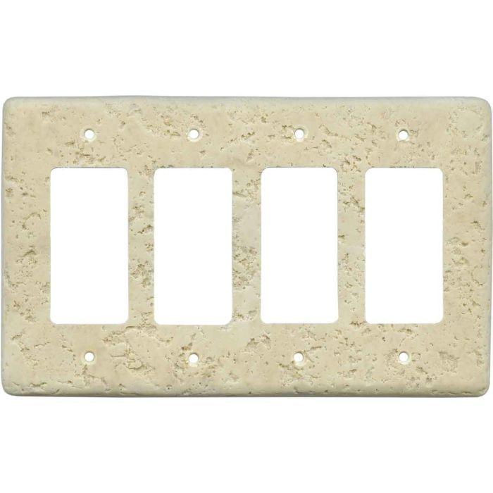 Stonique Mocha 4 Rocker GFCI Decorator Switch Plates