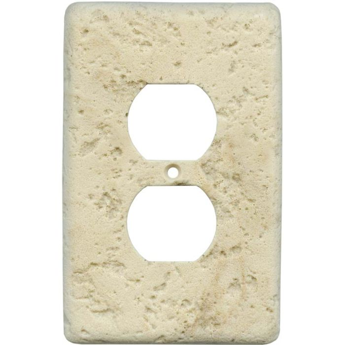 Stonique Mocha 1 Gang Duplex Outlet Cover Wall Plate
