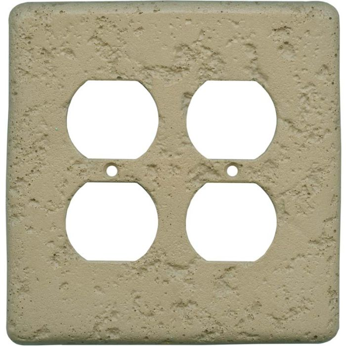 Stonique Noce 2 Gang Duplex Outlet Wall Plate Cover