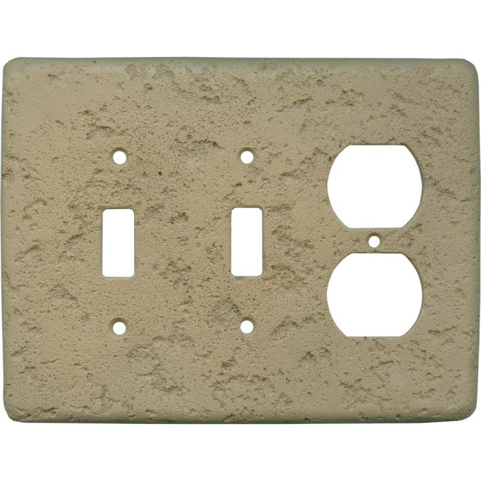 Stonique Noce Double 2 Toggle / Outlet Combination Wall Plates