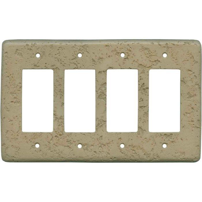 Stonique Noce 4 Rocker GFCI Decorator Switch Plates
