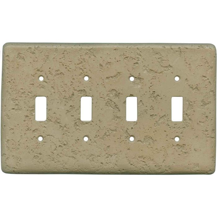 Stonique Noce Quad 4 Toggle Light Switch Covers