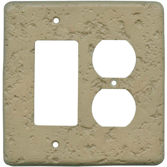 Stonique Noce Combination GFCI Rocker / Duplex Outlet Wall Plates
