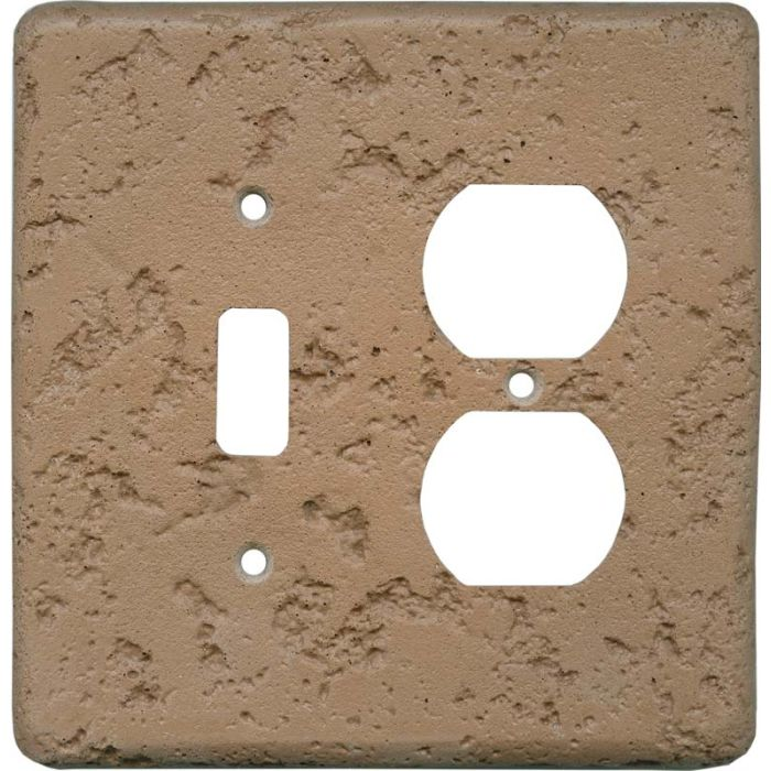 Stonique Terra Cotta Combination 1 Toggle / Outlet Cover Plates