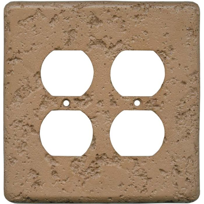 Stonique Terra Cotta 2 Gang Duplex Outlet Wall Plate Cover
