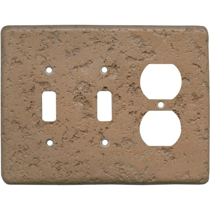 Stonique Terra Cotta Double 2 Toggle / Outlet Combination Wall Plates