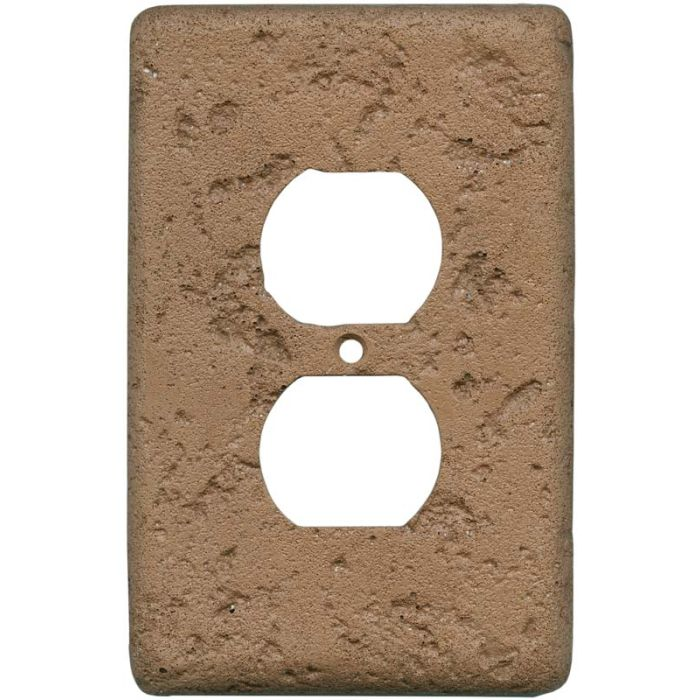 Stonique Terra Cotta 1 Gang Duplex Outlet Cover Wall Plate