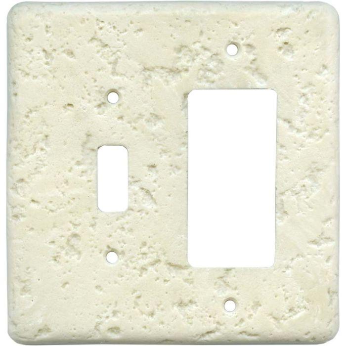 Stonique Wheat Combination 1 Toggle / Rocker GFCI Switch Covers