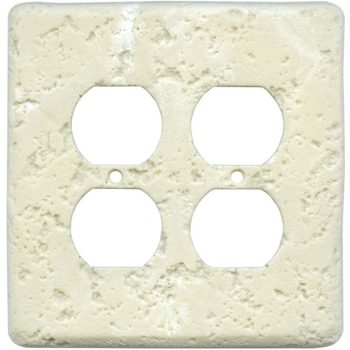 Stonique Wheat 2 Gang Duplex Outlet Wall Plate Cover