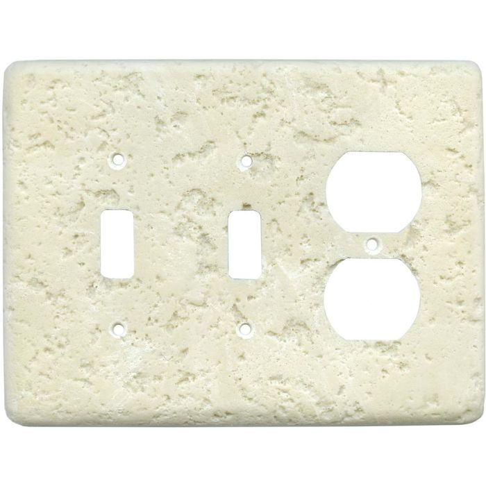 Stonique Wheat Double 2 Toggle / Outlet Combination Wall Plates