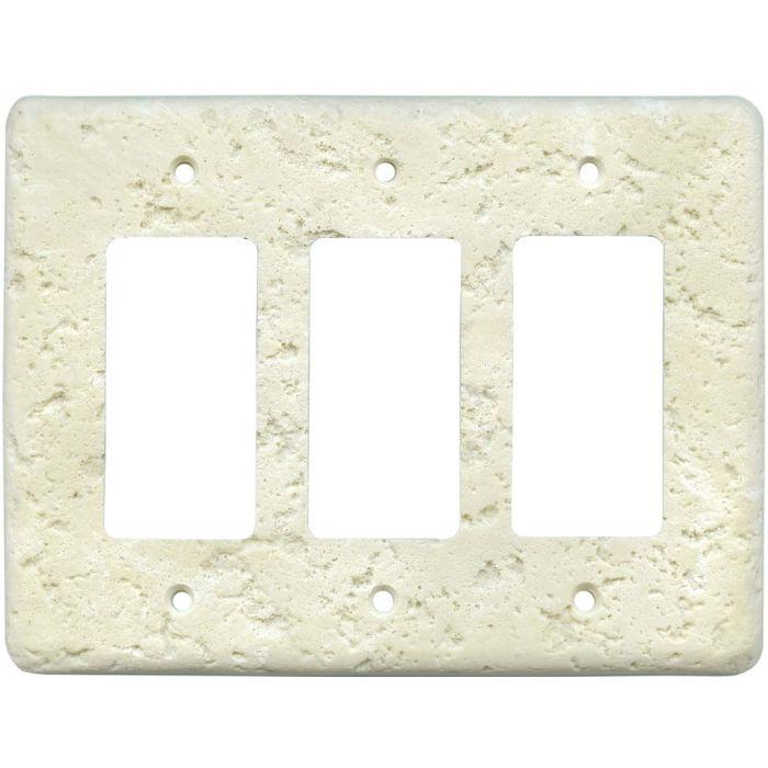 Stonique Wheat Triple 3 Rocker GFCI Decora Light Switch Covers