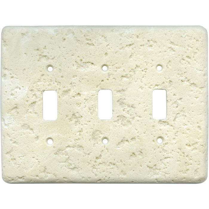 Stonique Wheat Triple 3 Toggle Light Switch Covers