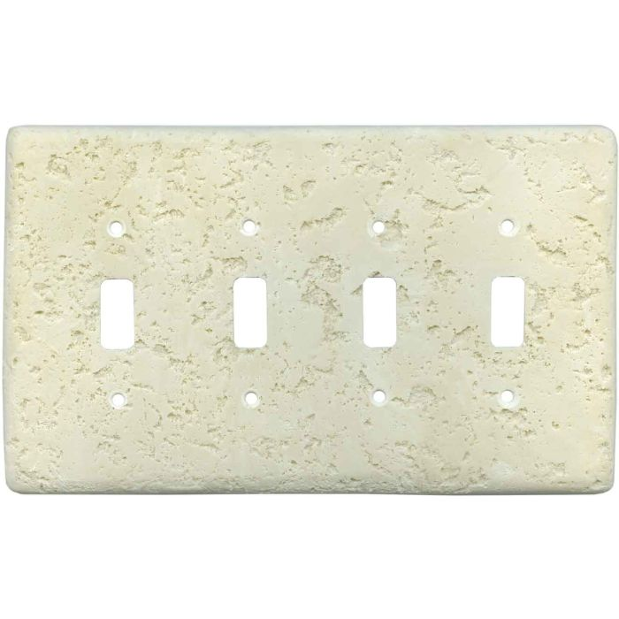 Stonique Wheat Quad 4 Toggle Light Switch Covers
