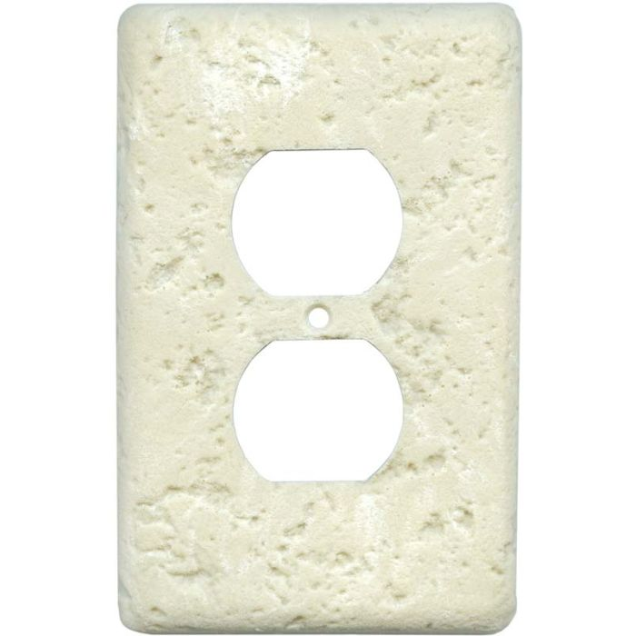 Stonique Wheat 1 Gang Duplex Outlet Cover Wall Plate