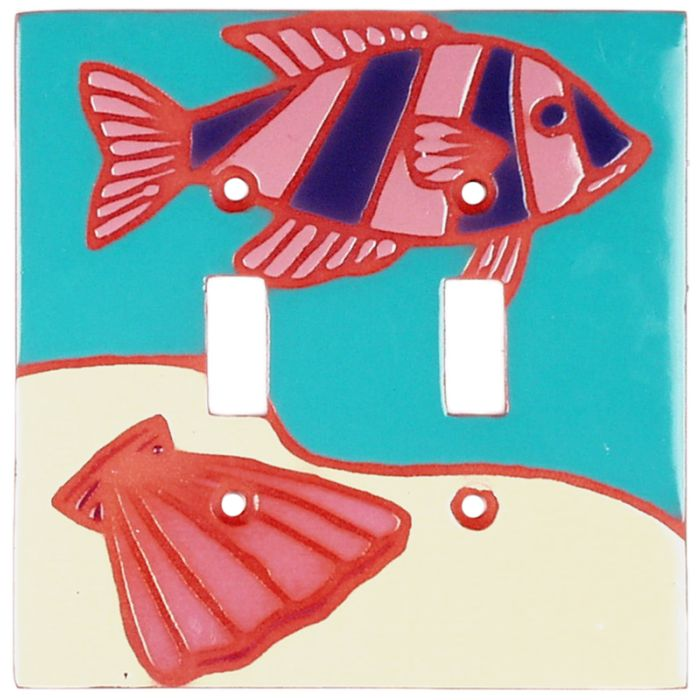 Striped Fish - 2 Toggle Switch Plate Covers