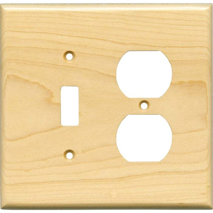 Sugar Maple Satin Lacquer - Combination 1 Toggle/Outlet Cover Plates