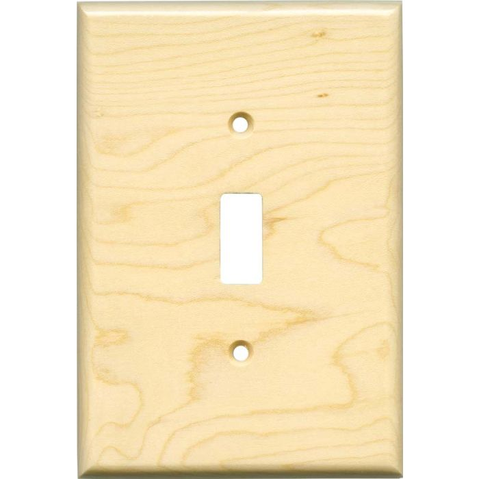 Sugar Maple Satin Lacquer Single 1 Toggle Light Switch Plates