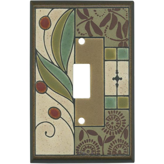 Summer Tapestry Ceramic Single 1 Toggle Light Switch Plates