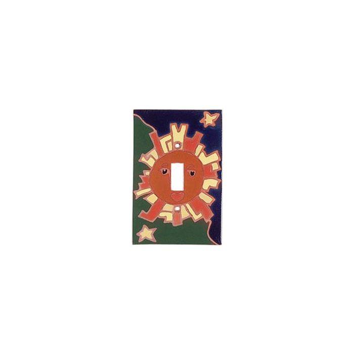 Sun Compasse - 1 Toggle Light Switch Plates