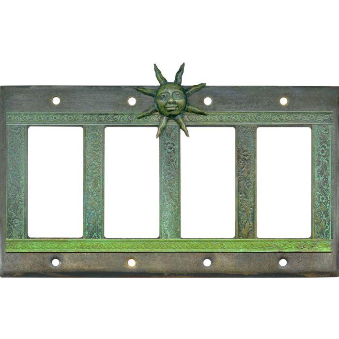 Sunburst 4 Rocker GFCI Decorator Switch Plates