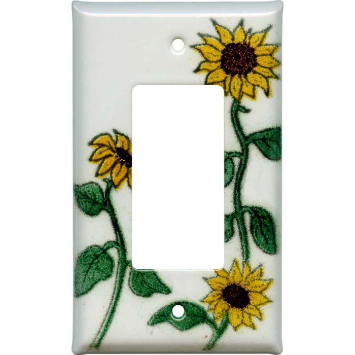 Sunflower Patch Single 1 Gang GFCI Rocker Decora Switch Plate Cover