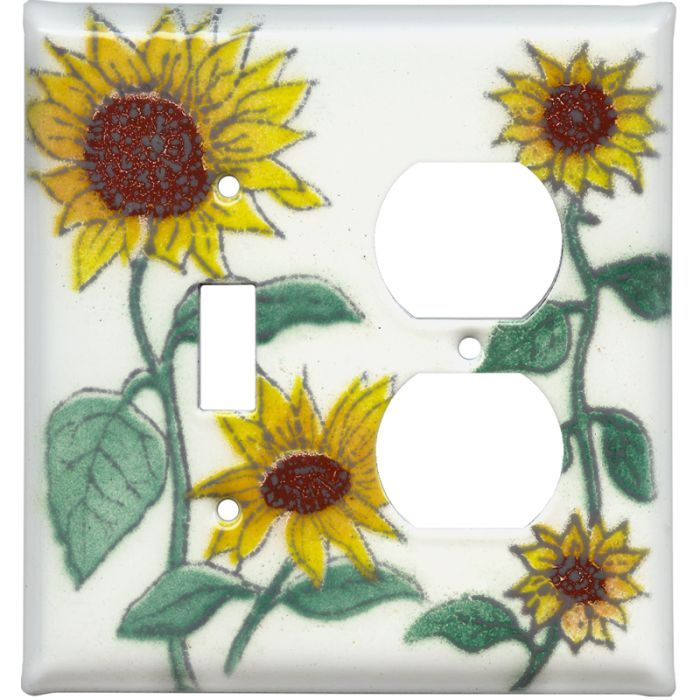Sunflower Patch Combination 1 Toggle / Outlet Cover Plates