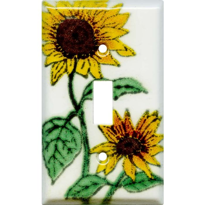 Sunflower Patch Single 1 Toggle Light Switch Plates