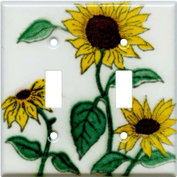 Sunflower Patch Double 2 Toggle Switch Plate Covers