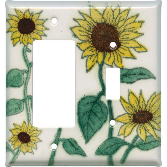 Sunflower Patch 1-Gang GFCI Decorator Rocker Switch Plate Cover