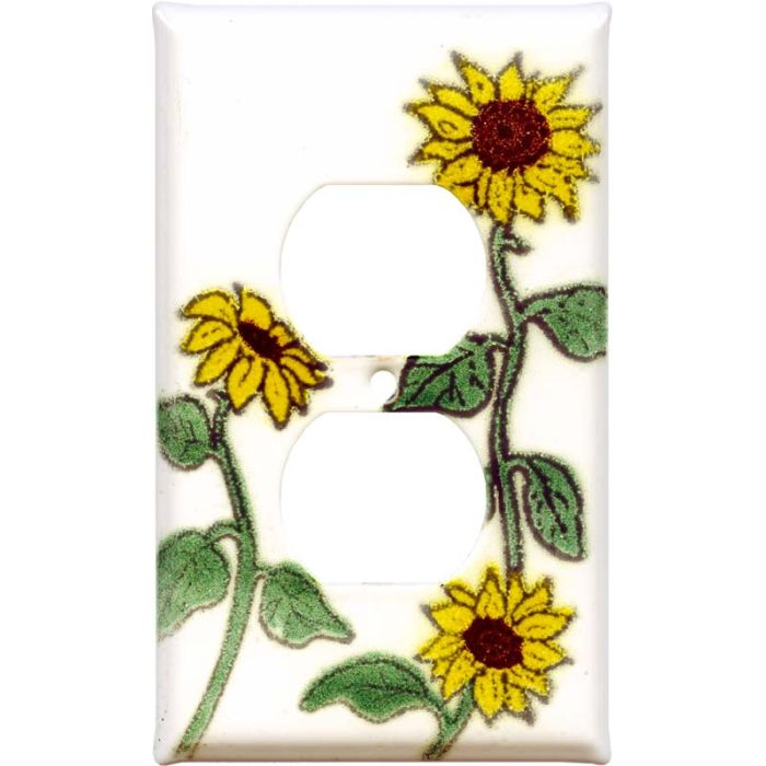 Sunflower Patch 1 Gang Duplex Outlet Cover Wall Plate