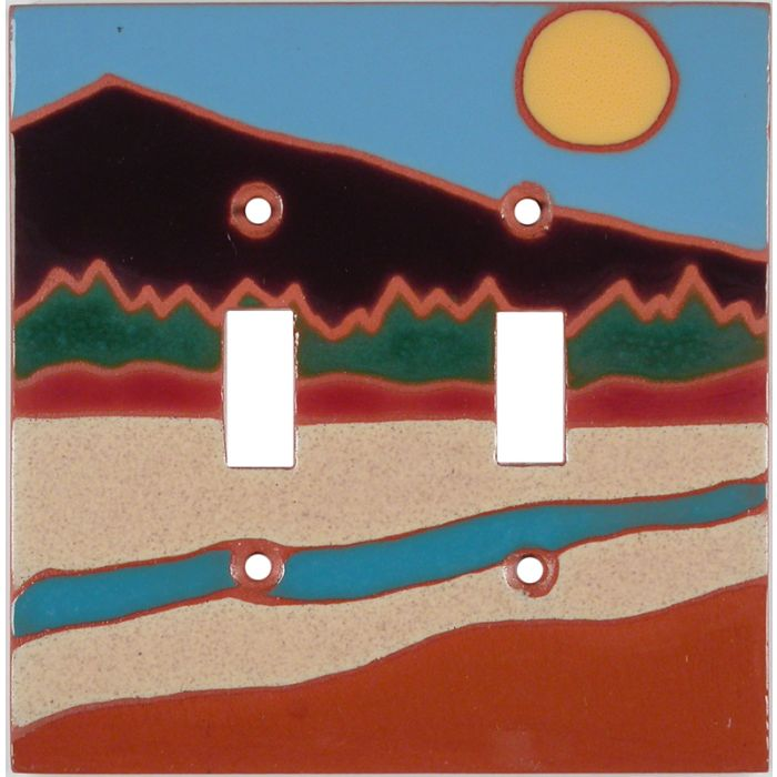 Sunny River Double 2 Toggle Switch Plate Covers