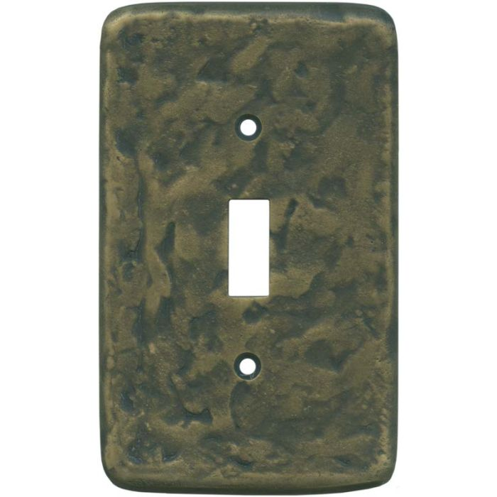 Texture Antique Brass Single 1 Toggle Light Switch Plates