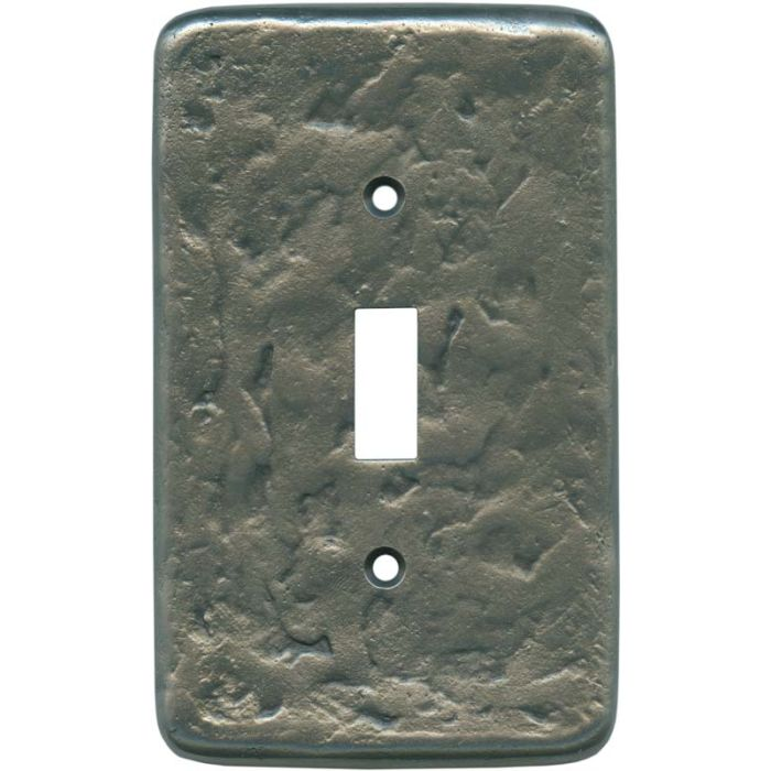 Texture Antique Pewter 1-Gang GFCI Decorator Rocker Switch Plate Cover
