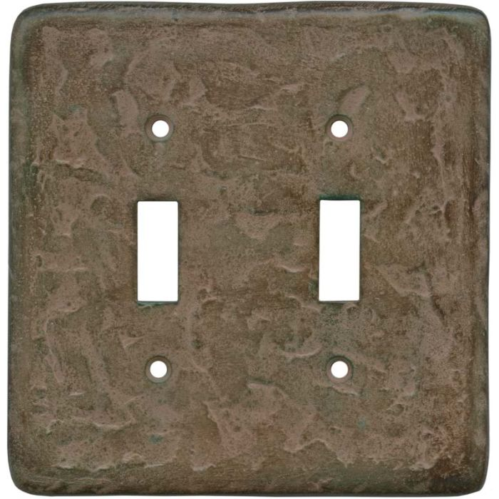 Texture Brown Clay Double 2 Toggle Switch Plate Covers