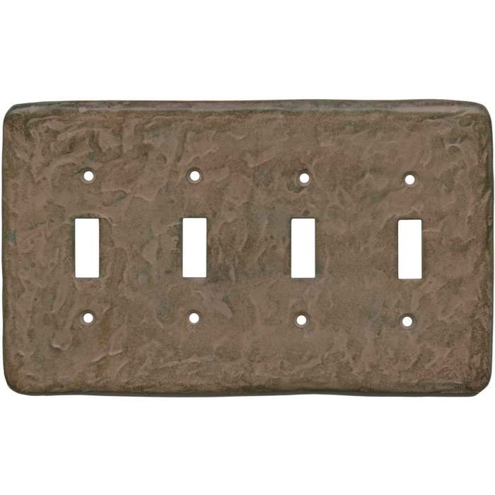 Texture Brown Clay - 4 Toggle Light Switch Covers