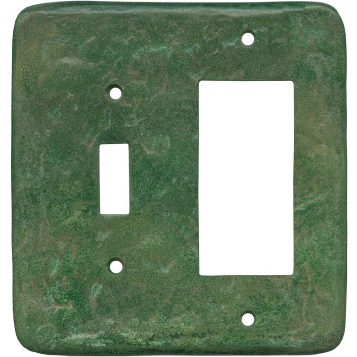 Texture Mesa Verde Green Combination 1 Toggle / Rocker GFCI Switch Covers