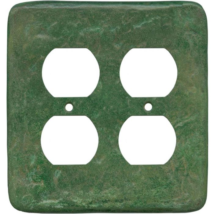 Texture Mesa Verde Green - 2 Gang Electrical Outlet Covers