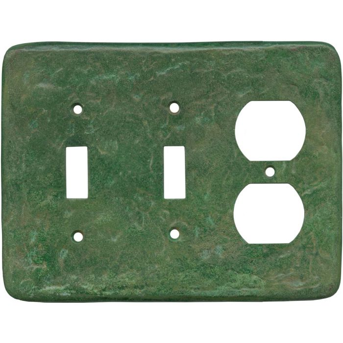 Texture Mesa Verde Green Double 2 Toggle / Outlet Combination Wall Plates