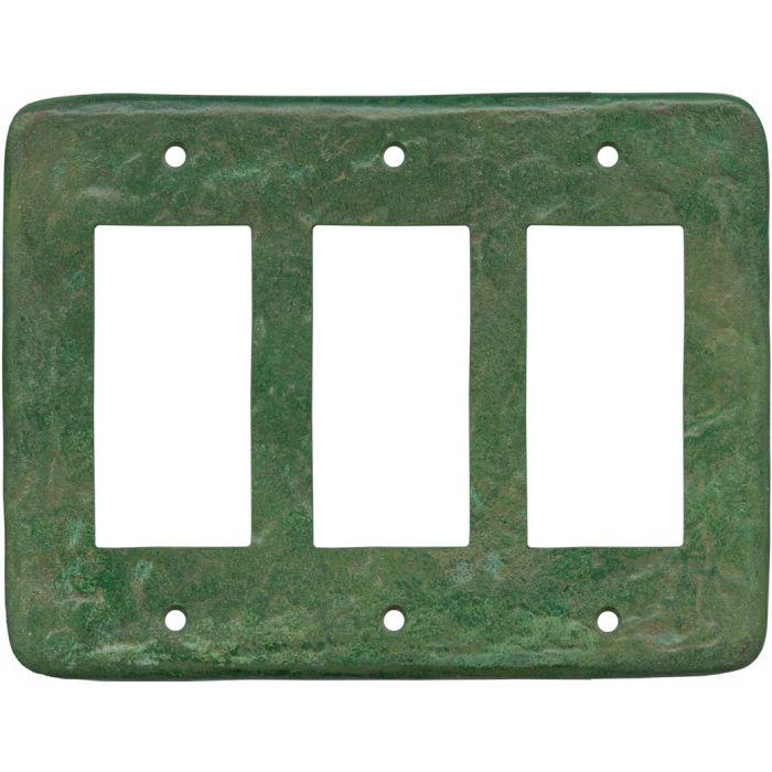 Texture Mesa Verde Green Triple 3 Rocker GFCI Decora Light Switch Covers