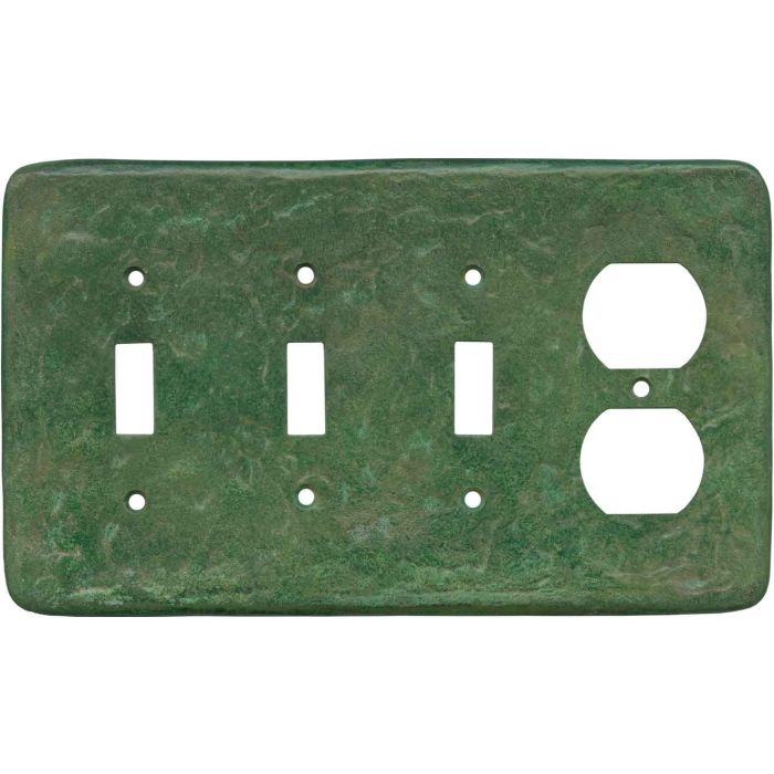 Texture Mesa Verde Green Combination Triple 3 Toggle / Outlet Wall Plate Covers