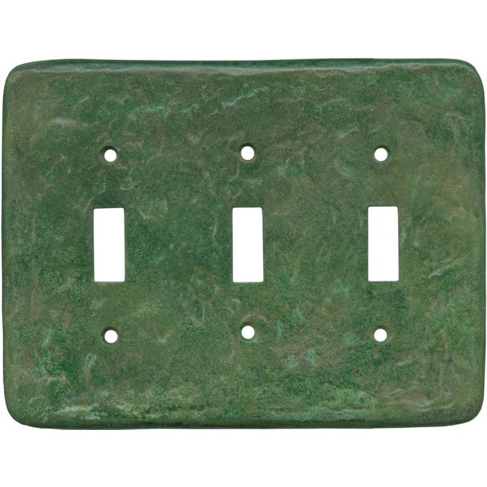 Texture Mesa Verde Green Triple 3 Toggle Light Switch Covers