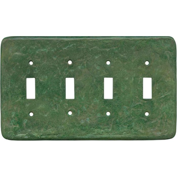 Texture Mesa Verde Green Quad 4 Toggle Light Switch Covers