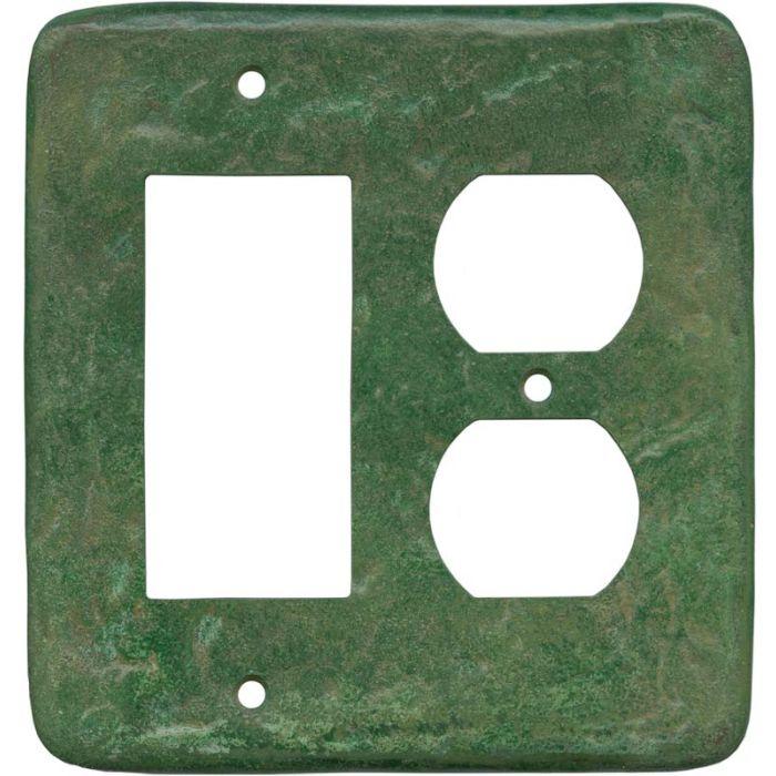 Texture Mesa Verde Green - GFCI Rocker/Duplex Outlet Wall Plates