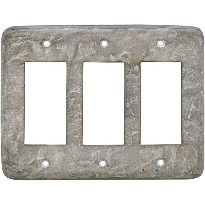 Texture Smokey Taupe Triple 3 Rocker GFCI Decora Light Switch Covers
