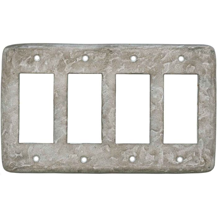 Texture Smokey Taupe 4 Rocker GFCI Decorator Switch Plates