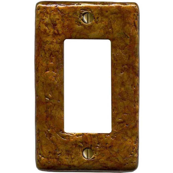 Textured Antique Single 1 Gang GFCI Rocker Decora Switch Plate Cover