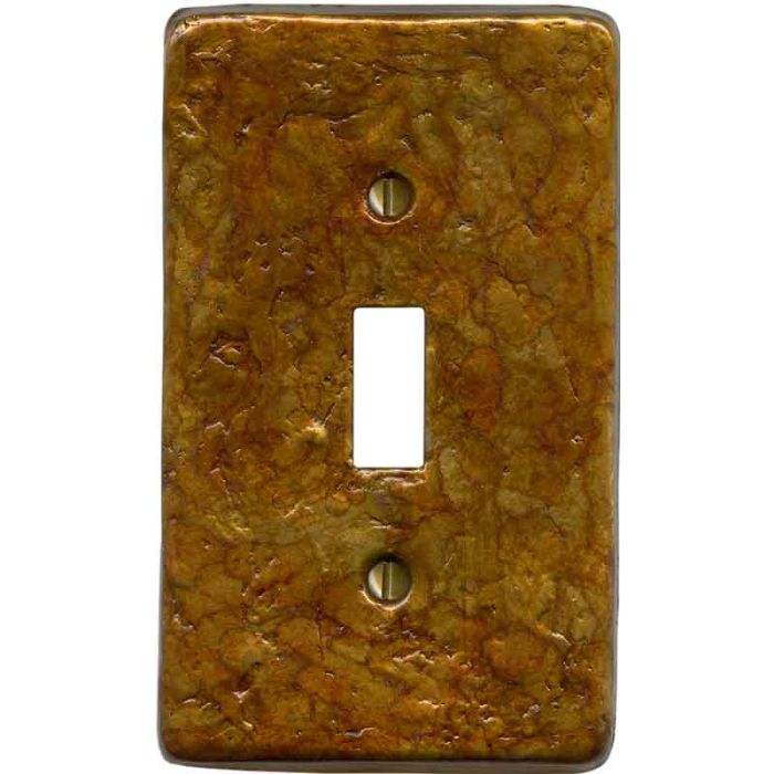 Textured Antique Single 1 Toggle Light Switch Plates