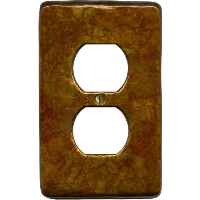 Textured Antique 1 Gang Duplex Outlet Cover Wall Plate