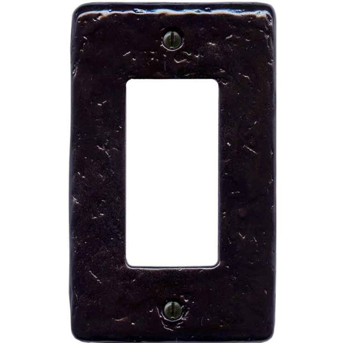Textured Black Single 1 Gang GFCI Rocker Decora Switch Plate Cover