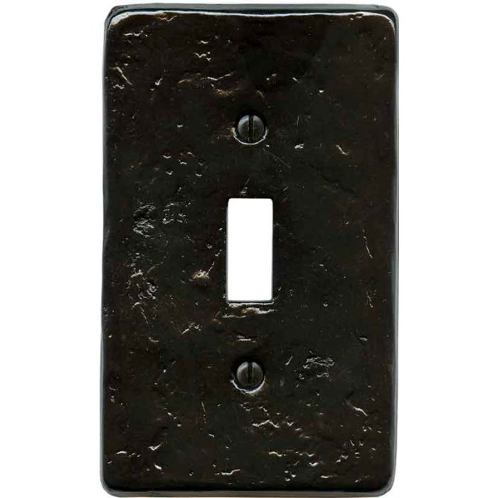Textured Black Single 1 Toggle Light Switch Plates